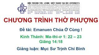 HTTL KINGSGROVE (Úc Châu) - Chương trình thờ phượng Chúa - 12/09/2021