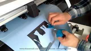 HOW TO MAKE FILM MOTIF, Heat Transfer Vinyl, Cutting Plotter, Shine Art