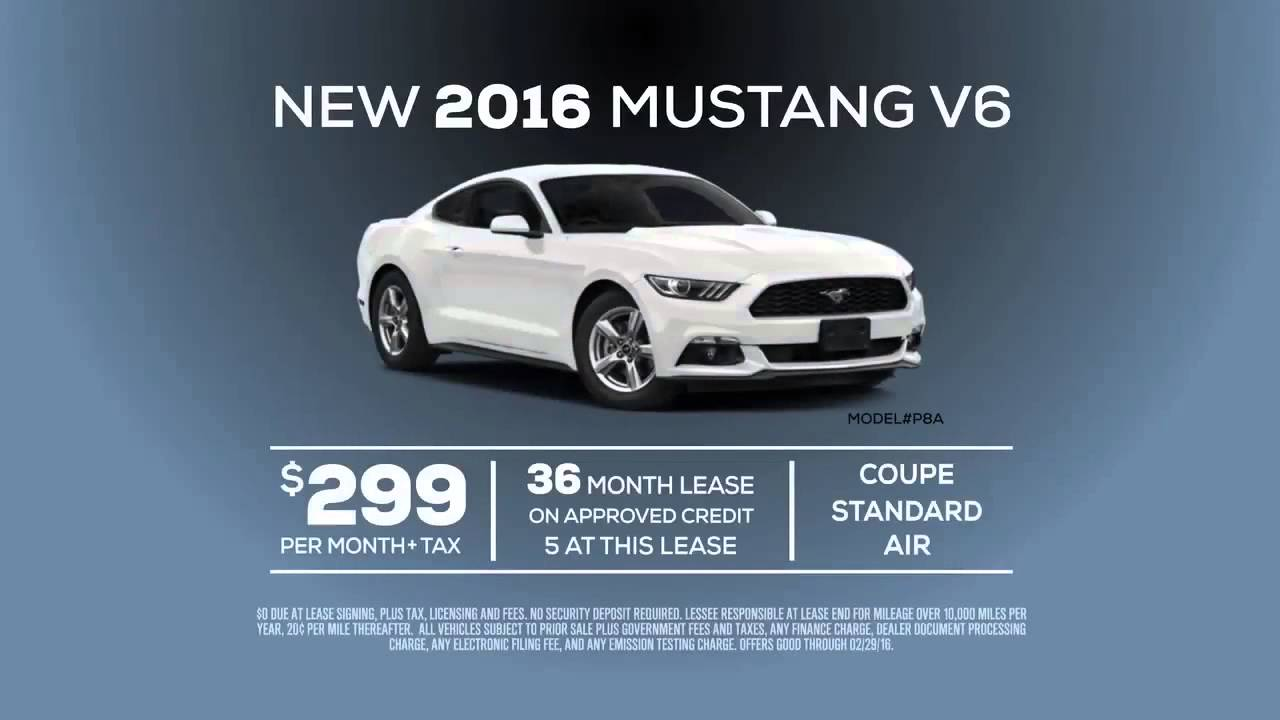 Ford Mustang Lease >> New 2016 Ford Mustang V6 Lease Special Offer From Ford Of Orange