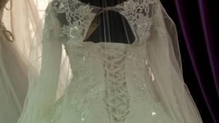 видео Световое оформление свадебного платья