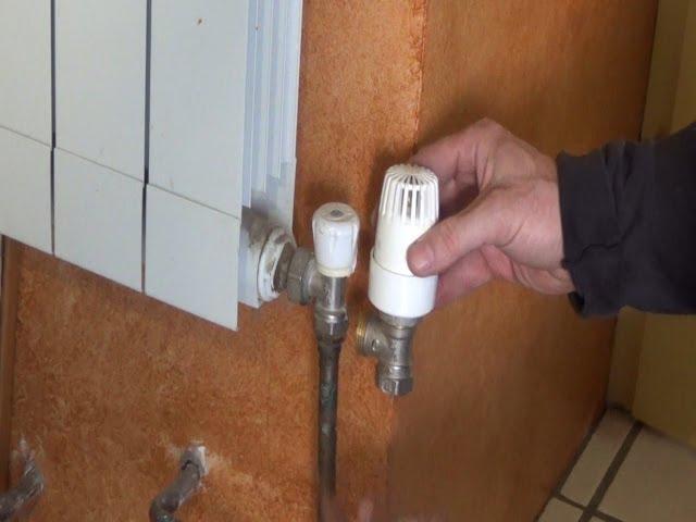 Remplacer un robinet manuel de radiateur par un robinet thermostatique