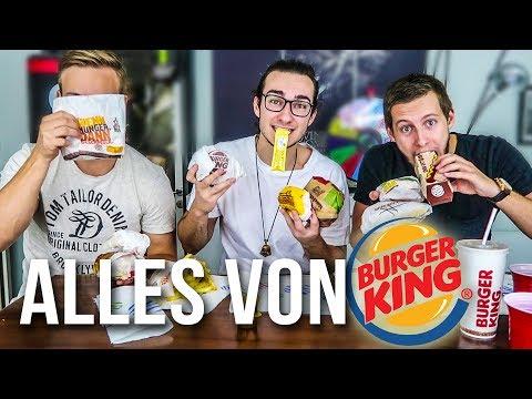 ALLE BURGER VON BURGER KING ESSEN - CHALLENGE!