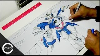Drawing Wing Zero Custom (Gundam Wing: Endless Waltz) Playmat