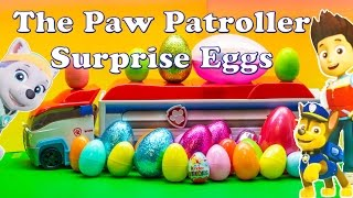 Opening the  Paw Patroller Surprise Eggs with Blaze and Everest Toys