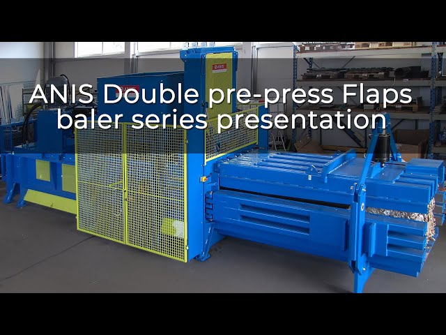ANIS Double pre-press Flaps baler series presentation