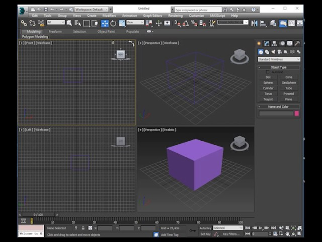 3ds studio max iniciantes painéis  aula 1
