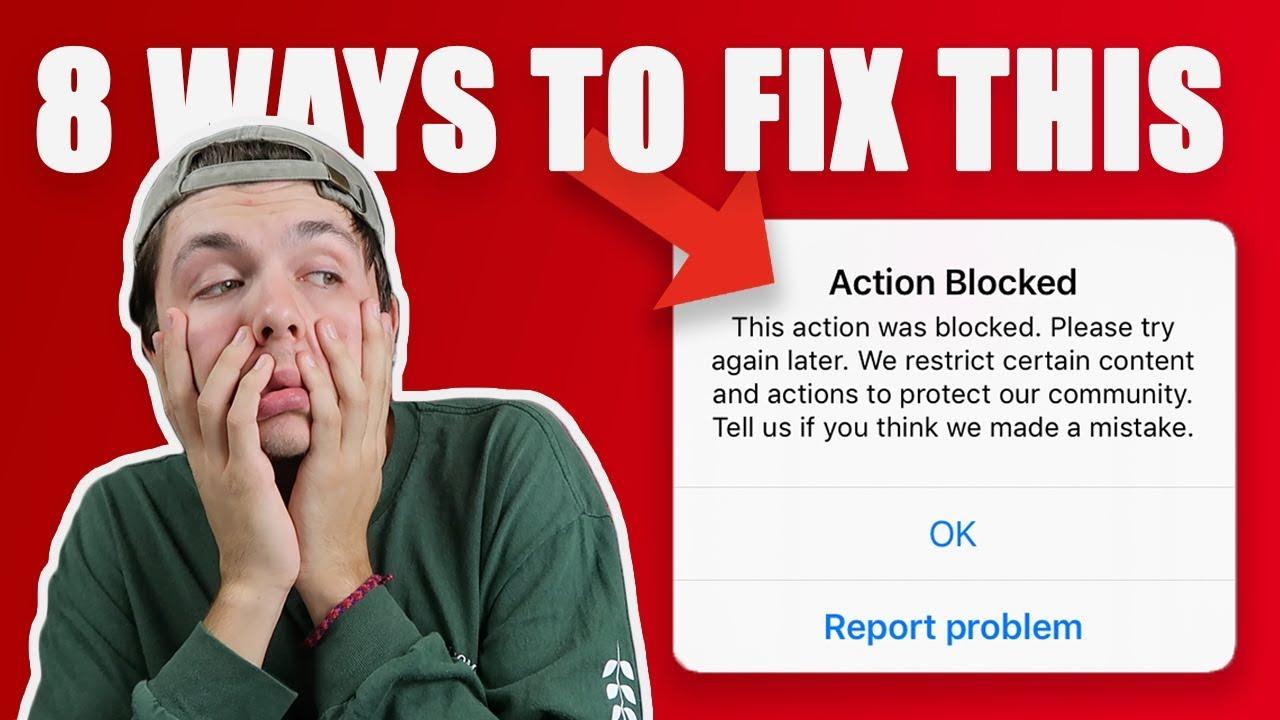 How to Remove Action Block - Fix Instagram Follow Block in 2019