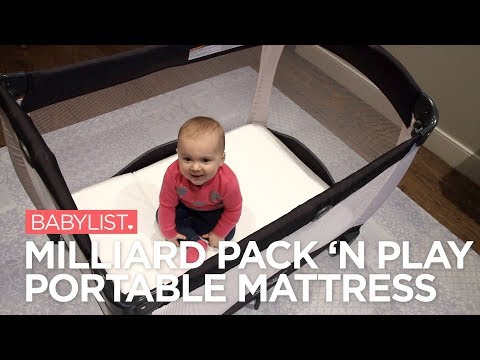 Milliard Pack 'n Play Portable Mattress Review - Babylist