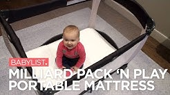 Milliard Pack 'n Play Portable Mattress Review