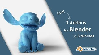 3 Cool Addons for Blender