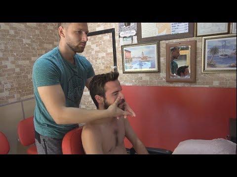 ASMR Turkish Barber Face, Head And Body Massage 302