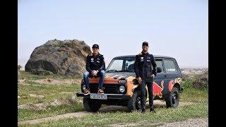 Aston Martin Red Bull Racing: Max Verstappen & Daniel Ricciardo in Lada Niva 4x4