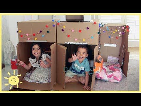 PLAY |  2.5 Bedroom Cardboard House!