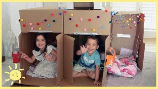 PLAY    2.5 Bedroom Cardboard House!