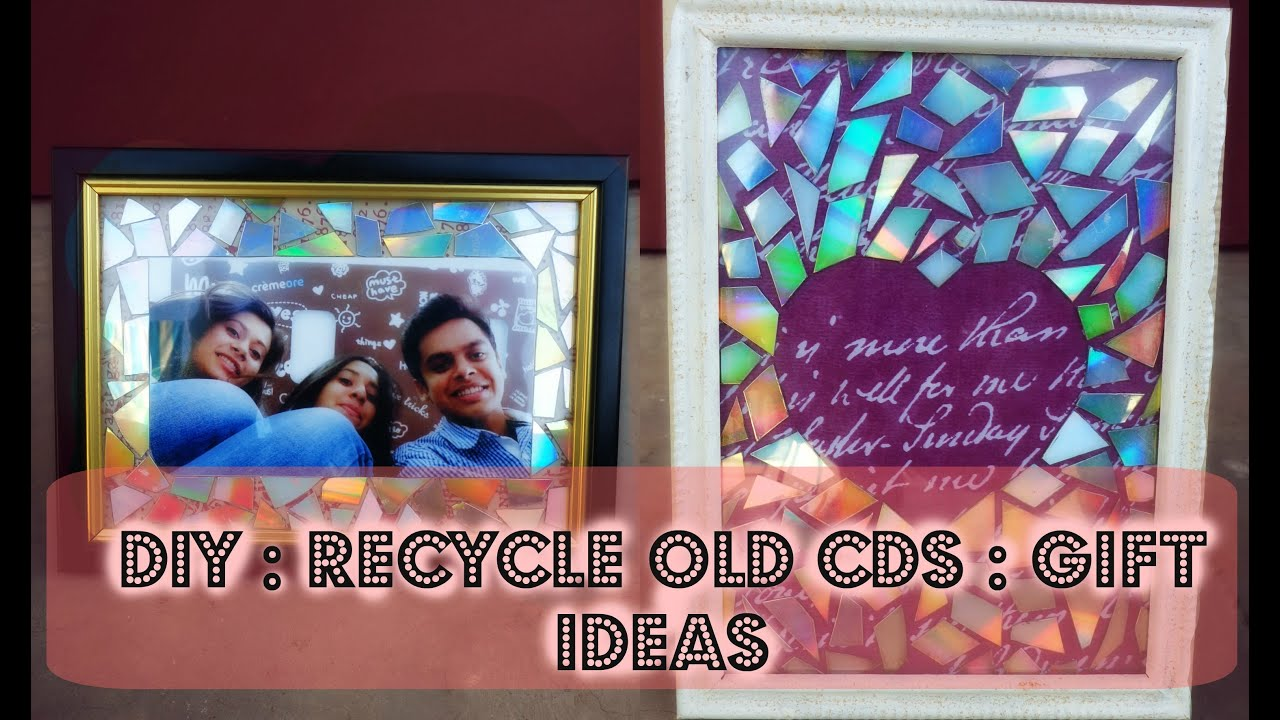 Diy picture frame and holographic art recycle old cds diy picture frame and holographic art recycle old cds handcrafted curio youtube jeuxipadfo Images