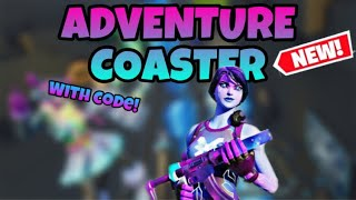 *NEW* ADVENTURE COASTER (Fortnite Roller Coaster) With Code!