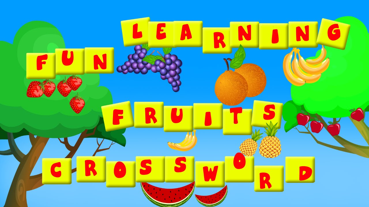 Fruits Crossword L Crosswords Fun Learning Teach Kids Teaching