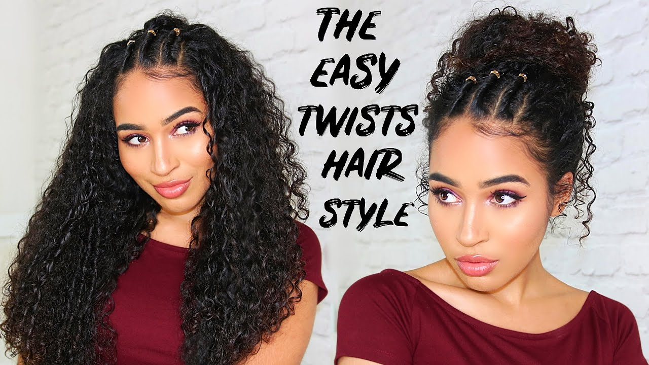 EASY 90/00s TWISTS HAIRSTYLE FOR CURLY HAIR