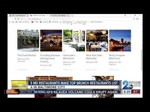 Maryland Restaurants Make OpenTable's Top 100 Brunch Restaurants