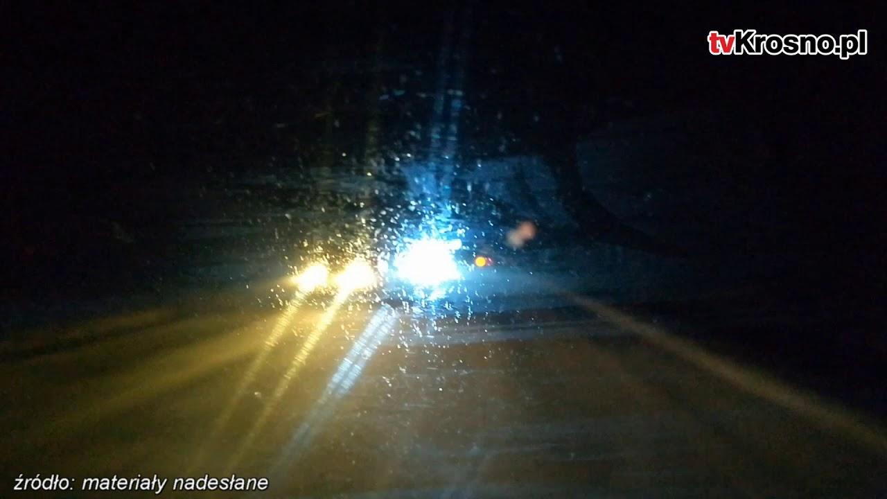 Niebezpiecznie na drodze Krosno-Sanok. Silny wiatr sparaliżował ruch