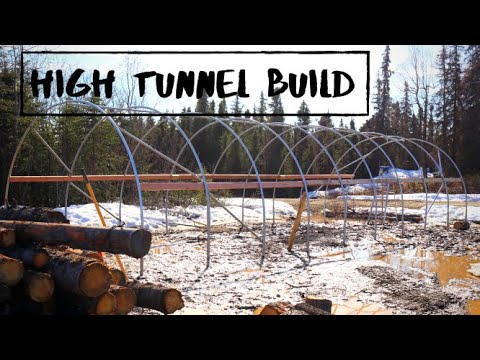High Tunnel Build (Part 1)   Off Grid Living