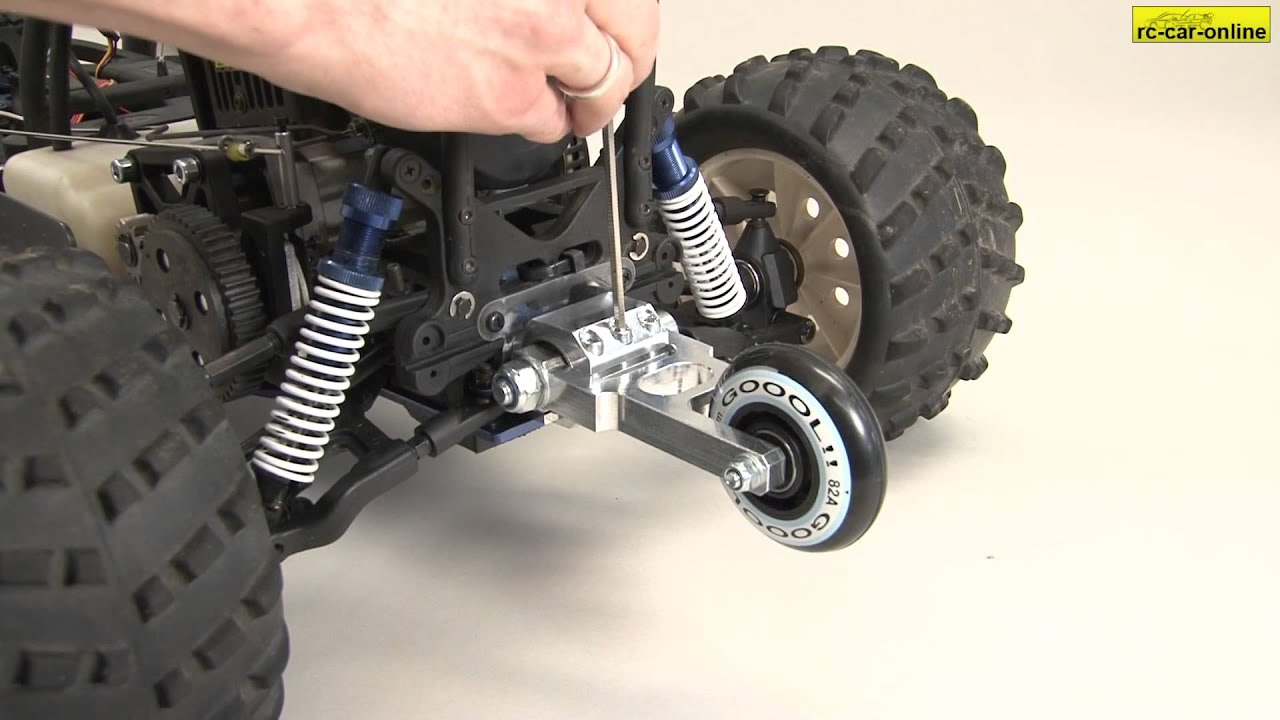 y0897 Wheelie bar with suspension for 2WD + 4WD models