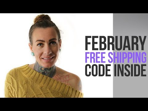 Free Shipping Coupon Code! February 2019 UrbanBodyJewelry.com