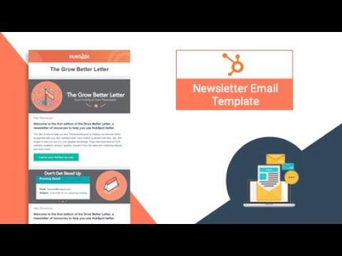Hubspot Best Newsletter Email Template Hubspot Marketplace Trooinbound