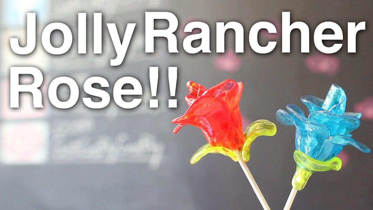 DIY Edible Jolly Rancher Rose Announcements