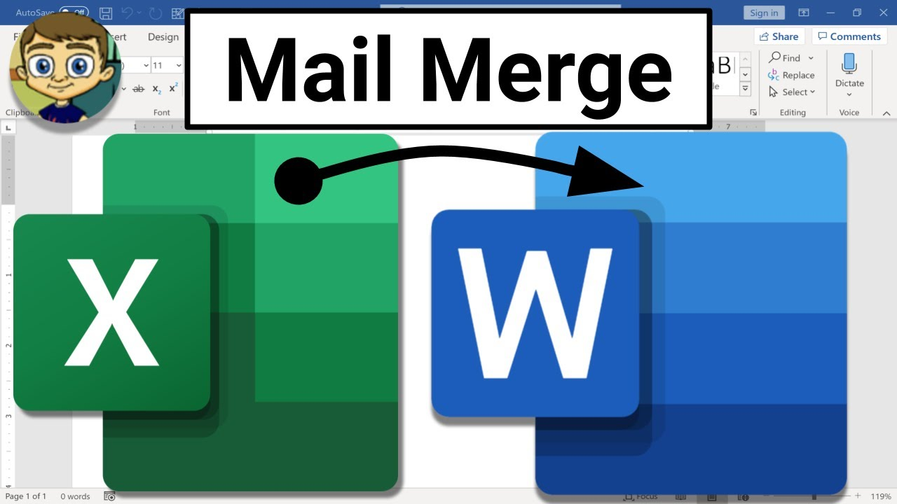 Mail Merge from Excel to Microsoft Word