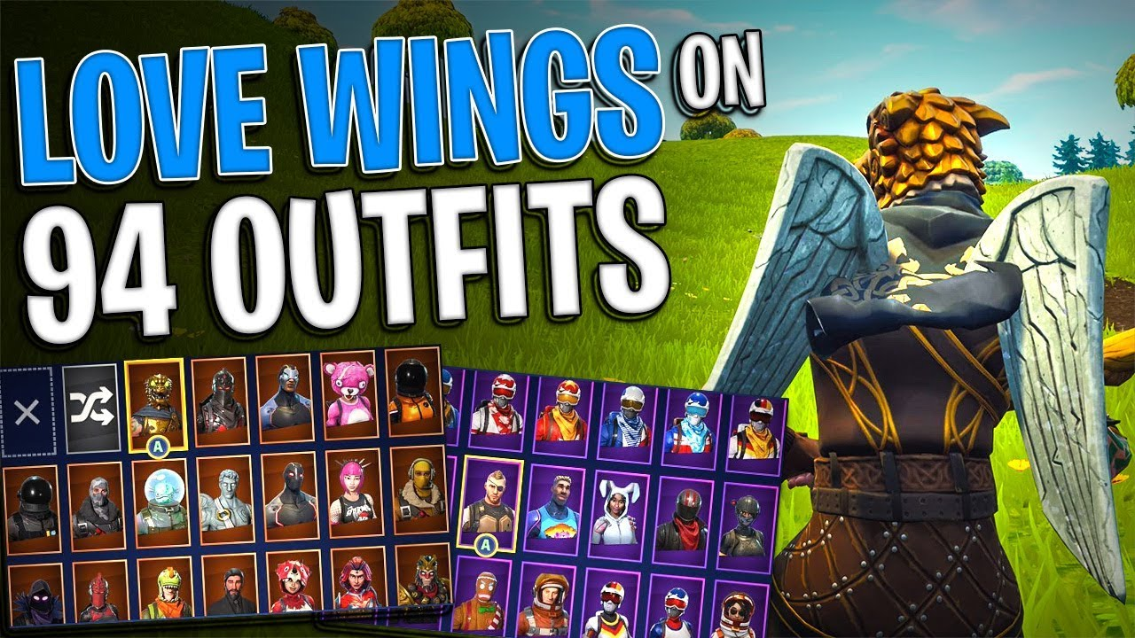 Love Wings Back Bling On 94 Outfits Buy Love Ranger Now Fortnite