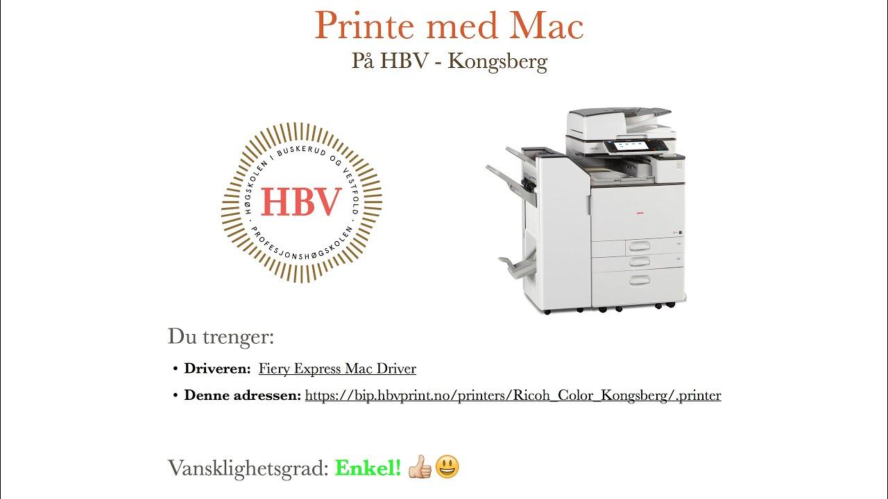 Installere printer på Mac OS X - HBV Kongsberg