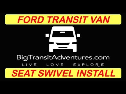 Ford Transit Van Conversion - Seat Swivel install from Swivelsrus, RV  Conversion #Van Life