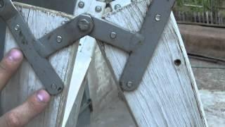 Самодельная деревянная лестница - стремянка.(Мой блог: http://alffisher.blogspot.com/ Статья о самодельной лестнице, чертежи, технология + несколько видео: http://alffisher.blo..., 2015-08-09T18:32:41.000Z)