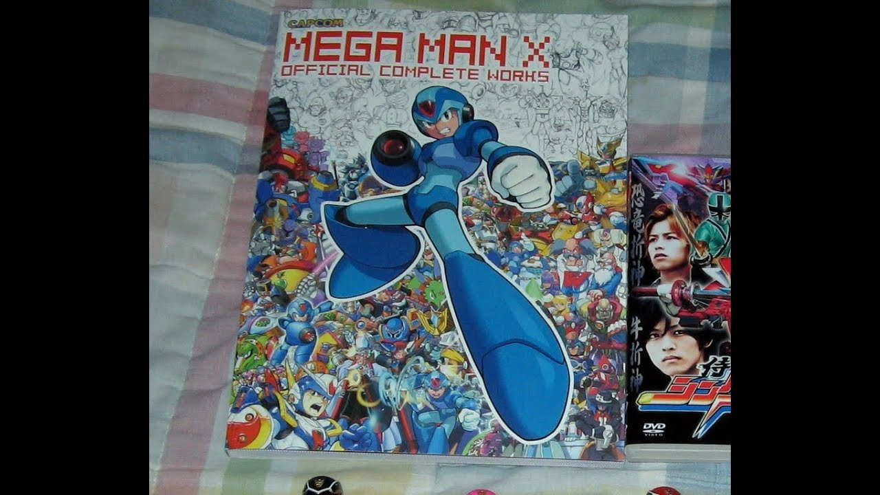 first review mega man x official complete works book youtube
