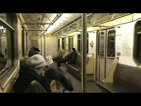 Московское метро перегон Чеховская - Цветной бульвар