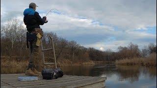 Рыбалка на хищника.Все таки он клюнул.Клевало только на эту приманку