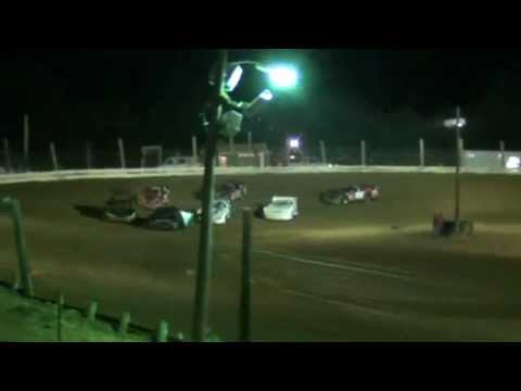 Jackson County Speedway Steel Block Late Models First 4 Laps 5-25-2012