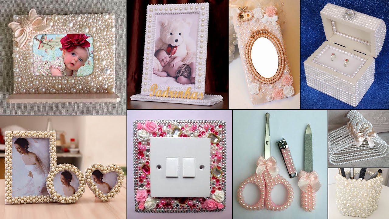 10 Personal & Home Useful Craft Ideas! Pearls Decoration