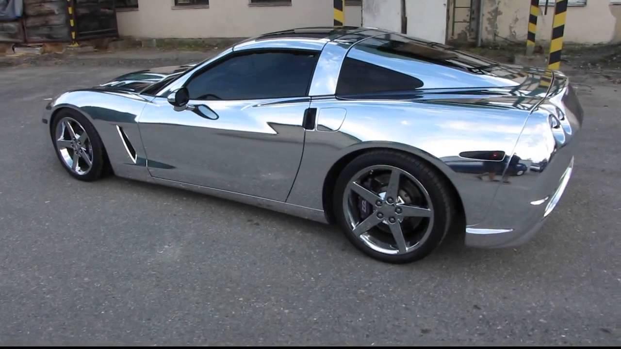 Chrome Corvette Car Tintek Wrap.wmv - YouTube