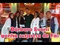 Bárbara Evans ganha surpresa de fãs no Paris6 - Snaps da Bah
