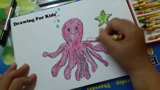 Draw the dodecahedron and starfish Guide the shaggy  Draw octopus and starfish