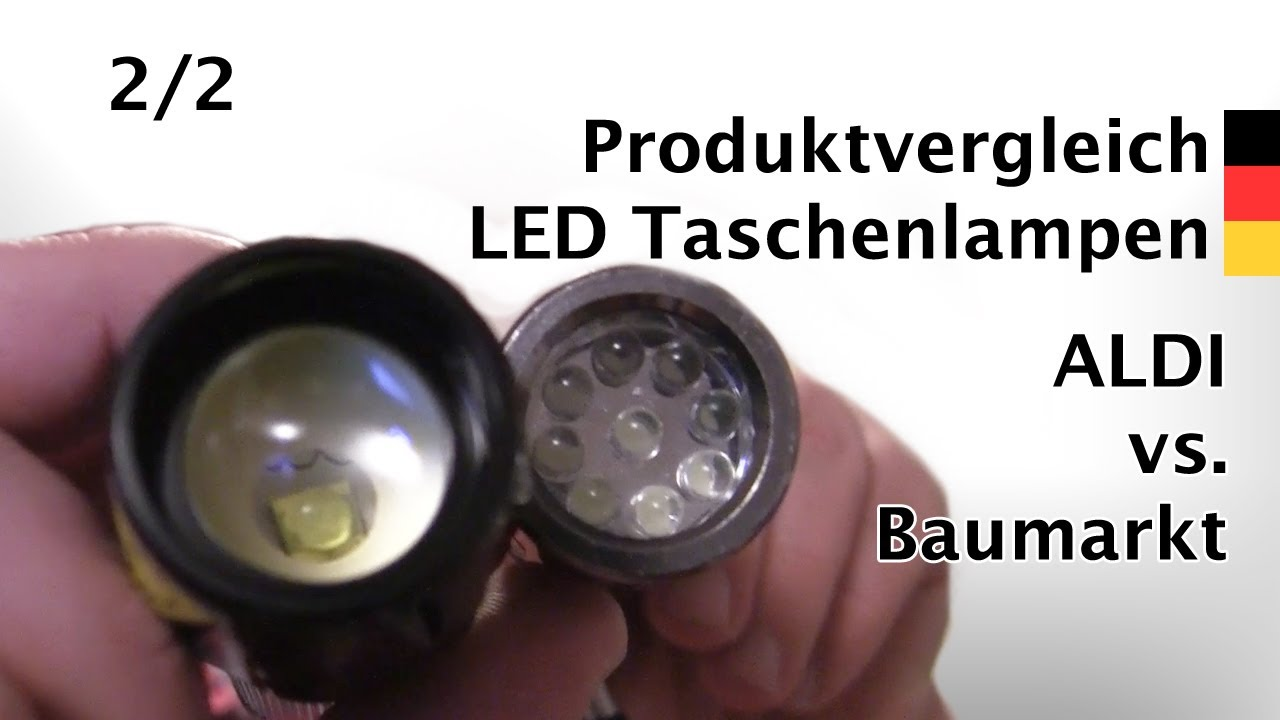 led taschenlampen discount oder marke test teil 2 youtube. Black Bedroom Furniture Sets. Home Design Ideas