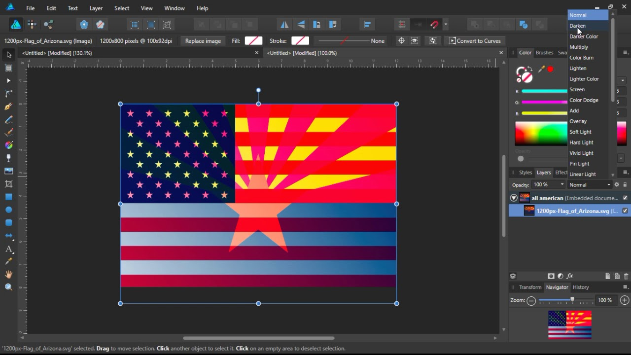 Affinity designer Eagleyedesigns flag design walkthrough