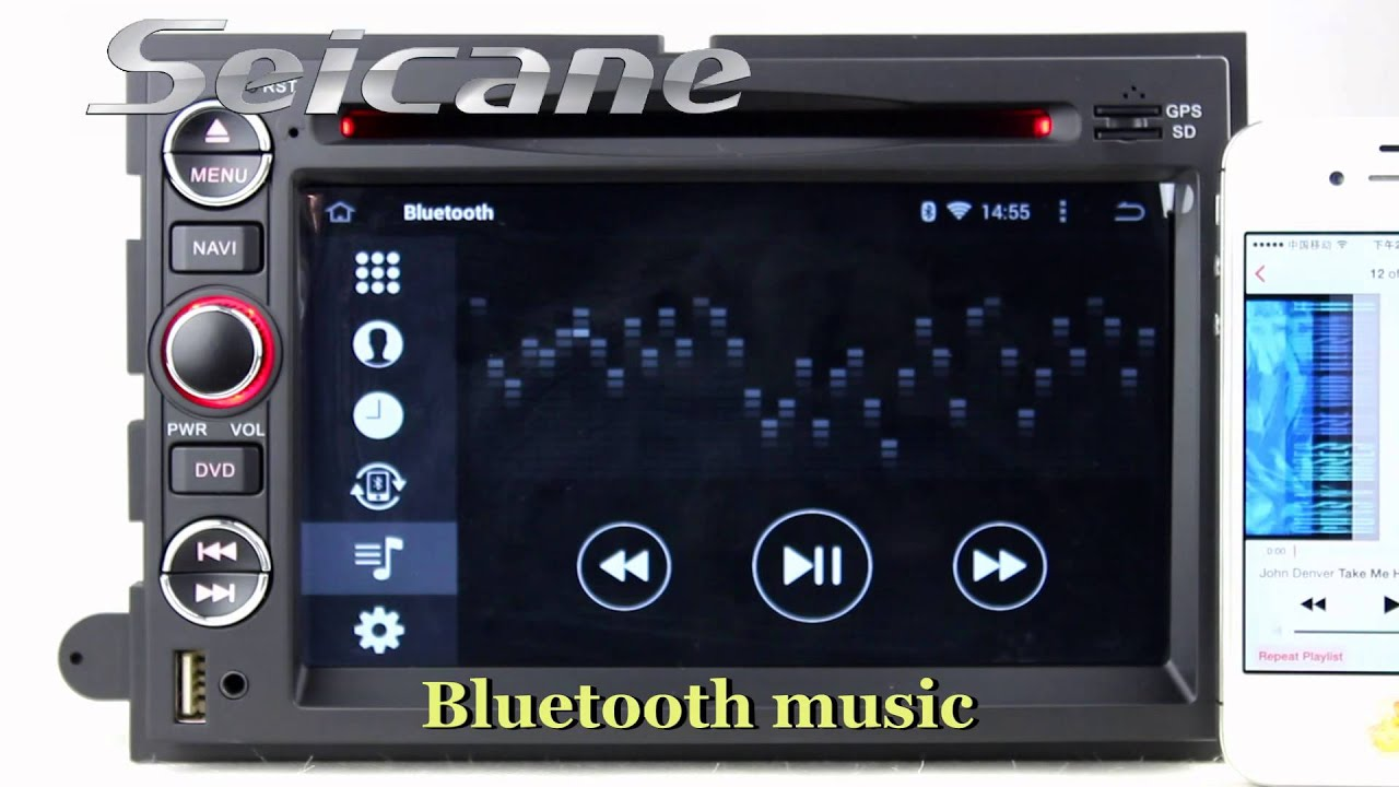 In dash car radio bluetooth for 2006 2009 ford fusion with bt hd 1024 600 touch screen usb sd aux in youtube