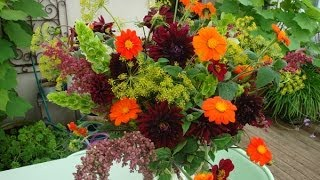 Sublime Dark Dahlia Flower Arrangement