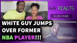 White Guy Dunks On Former NBA Player! REACTION    SPORTS REACTIONS Video