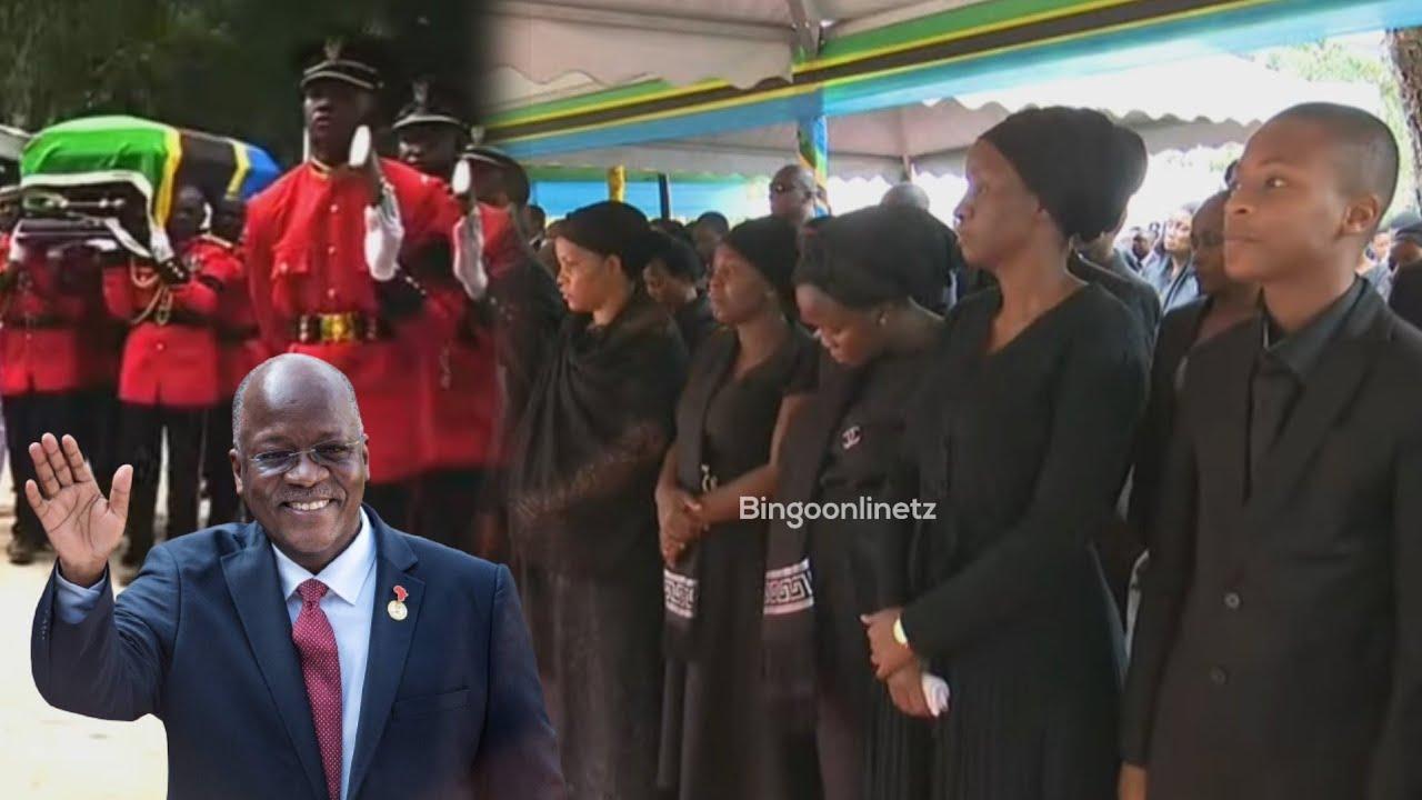 Download Watoto wa Magufuli Na Mama Janeth Waimba kwa Huzuni Kwenye Mazishi Ya Magufuli Chato Muda Huu