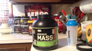 Optimum Nutrition Serious Mass Review HD!