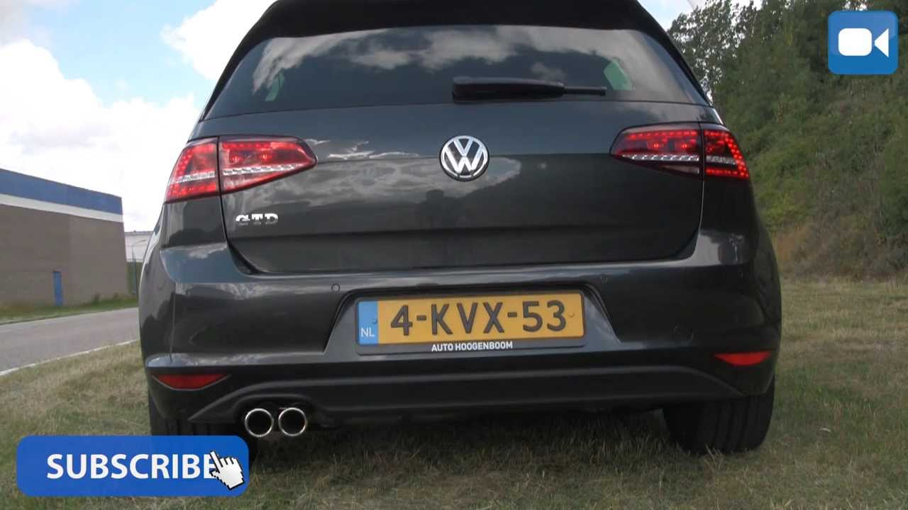 Vw Golf 7 Gtd Nice Startup Amp Revs Exhaust Sound Youtube